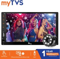 myTVS TAV-61 Double Din HD Touch Screen Car Stereo Media Player with USB/MP5/MP3 & Mirror Link with 8 LED Night Vision Parking Camera Black LED(17.78 cm)