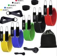 Bombus 11 Pcs/Set Resistance Band Tube Home Gym Workout Exercise Training for Men & Women Resistance Tube(Multicolor)