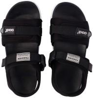Aadi Men Black Sports Sandals