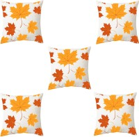 Mekanshi Text Print Cushions & Pillows Cover(Pack of 5, 30 cm*30 cm, White)