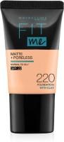 MAYBELLINE NEW YORK Fit Me Matte+Poreless Liquid Tube Foundation(220 Natural Beige, 18 ml)