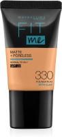 MAYBELLINE NEW YORK Fit Me Matte+Poreless Liquid Tube Foundation(330 Toffee, 18 ml)