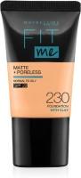 MAYBELLINE NEW YORK Fit Me Matte+Poreless Liquid Tube Foundation(230 Natural Buff, 18 ml)