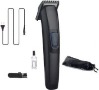 NKZ Rechargeable 522 Cordless Premium Quality Strong Power Low Sound Trimmer For Both Men & Women  Runtime: 45 min Trimmer for Men(Black)