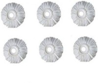 AMAZEE Refill Magic Spin Mop Refill Replacement Head Refill for 360 degree Rotation Refill Mop Refill (Pack of 6) Refill(White)