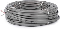 Oxcord 1.5 mm Twin 2 Core Flat Copper Wire Grey 45 ft. Wire(grey)