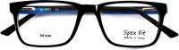 SpexFit Eyewear Full Rim Rectangle Frame(54 mm)