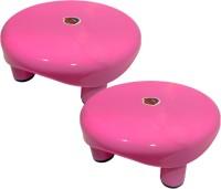Plastico A-ONE Bathroom Patta & Stool For Multipurpose use Bathroom Stool(Pink, Pre-assembled)