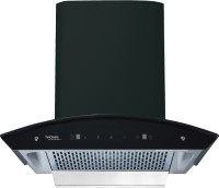 Hindware Oasis 60  motion sensor Auto Clean Wall Mounted Chimney(black 1200 CMH)