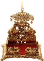 anil job works Handcrafted Singhasan for Laddu Gopal/Bal Gopal in Metal Gold Oxidized Finished Laddu Gopal Singhasan for Home Decor & Gifts Metal Home Temple(Height: 18, Pre-assembled)