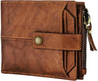 Tree Wood Men & Women Travel, Casual, Formal Tan Genuine Leather Wallet(11 Card Slots)