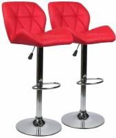 Vilkhu Leatherette Bar Stool(Finish Color - Red, Knock Down)
