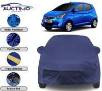 AUCTIMO Car Cover For Hyundai Eon (With Mirror Pockets)(Blue)