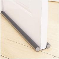 Smart Saver PVC Sound-Proof Reduce Noise Energy Saving Weather Stripping Under Door Twin Draft Stopper (36 inch, Grey) Floor Mounted Door Stopper(Grey)