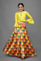 Fashion Dream Indi Girls Lehenga Choli Party Wear, Ethnic Wear Floral Print Lehenga Choli