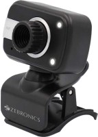 Zebronics Crystal Clear  Webcam(Black)
