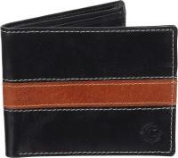 Cotnis Men Black, Tan Genuine Leather Wallet(6 Card Slots)