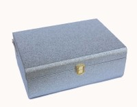 Oasis Leatherette Trunk(Finish and Fabric Color - Silver Glossy, Pre-assembled)