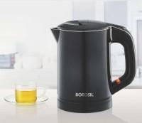 BOROSIL Eva Cool Touch 0.6 Ltr Stainless Steel Kettle Electric Kettle(0.6 L, Black)