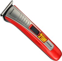 iBELL CTRT4400 Rechargeable Hair, Moustache Trimmer/ Clipper with Stainless Steel Blade and 3 Comb Attachments,  Runtime: 45 min Trimmer for Men(Red, Grey)