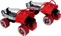 Strauss Senior Quad Roller Skates - Size Adjustable UK(Red, Black)