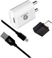 OTD Wall Charger Accessory Combo for Intex Aqua Raze, Intex Aqua Ring, Intex Aqua S3, Intex Aqua S7(White, Black)