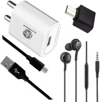 OTD Wall Charger Accessory Combo for Realme Narzo 20A, Realme U1, Reliance Lava EG841, Ringing Bells Smart 101(White, Black)