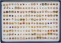 Chocozone Pack of 100 Earring Set for Women Artificial Jewellery for Girls Stud Earrings for Women Birthday Gift For Girlfriend Plastic Stud Earring