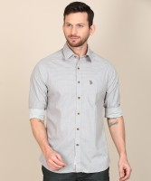 U.S. POLO ASSN. Men Printed Casual Beige Shirt