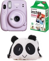 FUJIFILM Instax Mini 11 Instant Camera Mini 11 Lyliac Purple with 10 Shot and Panda pouch Instant Camera(Purple)