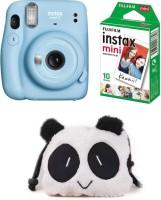 FUJIFILM Instax Mini 11 Mini 11 Sky Blue with 10 Shot and Panda pouch Instant Camera(Blue)