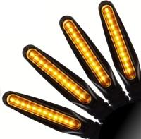 samtech Front, Rear LED Indicator Light for KTM, Yamaha, Universal For Bike, Royal Enfield, Datsun, Kawasaki, Hero, TVS R15, Super Thunderbird, Classic Desert Storm, Pulsar 200NS, Pulsar 135 LS DTS-i, RC 390, Avenger 150, Pulsar 180 DTS-i, Gixxer SF, Apache RTR 160, Universal For Bike(Yellow)