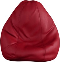 View Tulip Leatherette L Standard Kid Bean Bag(Bead Filling, Color - Prime Maroon) Furniture (Tulip)