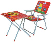 Mittal Metal Chair(Finish Color - Red)