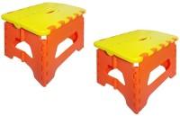 View Lovato Classy Combo's In Use & Fold Plastic Stool(Finish Color - Yellow) Furniture (Lovato)