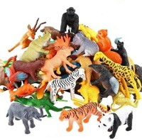 INFINITE POCKET Zoo Wild Animals Figures Set for Kids - Pack of 20 Animals (Multicolor)(Multicolor)