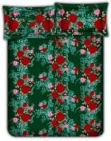 Bombay Dyeing 104 TC Cotton Double Floral Bedsheet(Pack of 1, Green)
