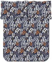 Bombay Dyeing 104 TC Cotton Double Floral Bedsheet(Pack of 1, Black)