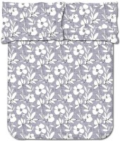 Bombay Dyeing 104 TC Cotton Double Floral Bedsheet(Pack of 1, Grey)