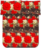 Bombay Dyeing 104 TC Cotton Double Floral Bedsheet(Pack of 1, Brown)