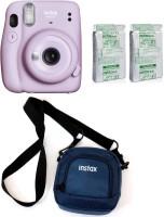 FUJIFILM Instax Mini 11 Mini 11 Lilac Purple with 20 Shots film and pouch Instant Camera(Purple)