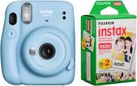 FUJIFILM Instax Mini Mini 11 Sky Blue with Twin Pack Instant Camera(Blue)