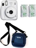 FUJIFILM Instax Mini 11 Instax Mini 11 Ice white with 20 Shot film and Pouch Instant Camera(White)