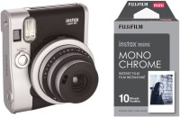 FUJIFILM Instax Mini Mini 90 Black with 10x1 Monochrome film Instant Camera(Black)