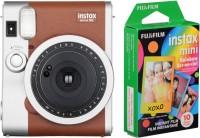 FUJIFILM Instax mini Mini 90 with 10x1 Rainbow film Pack Instant Camera(Brown)