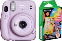 FUJIFILM Instax mini Mini 11 Lilac Purple with 10x1 Rainbow film Instant Camera(Purple)