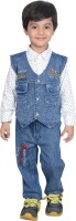 Nikky Fashion Boys Casual Jacket Jeans(Blue)