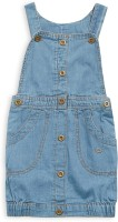 FS MINI KLUB Girls Casual Top Dungaree(Light Blue)