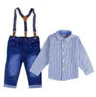 Shopandmart Boys Casual Dress Dress, Shirt, Pant(Light Blue)