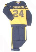 Monte Carlo Boys Casual Track Suit Track Suit(Dark Blue)